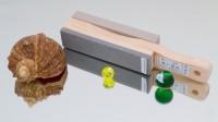 Водный камень и резинка для полировки на одном основании. Оригинальный MORITAKA. - Интернет-магазин японских ножей MORITAKA