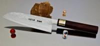 Moritaka AS Damaskus Santoku 185mm - Интернет-магазин японских ножей MORITAKA