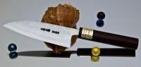 Moritaka AS Damaskus Small Santoku 130mm - Интернет-магазин японских ножей MORITAKA
